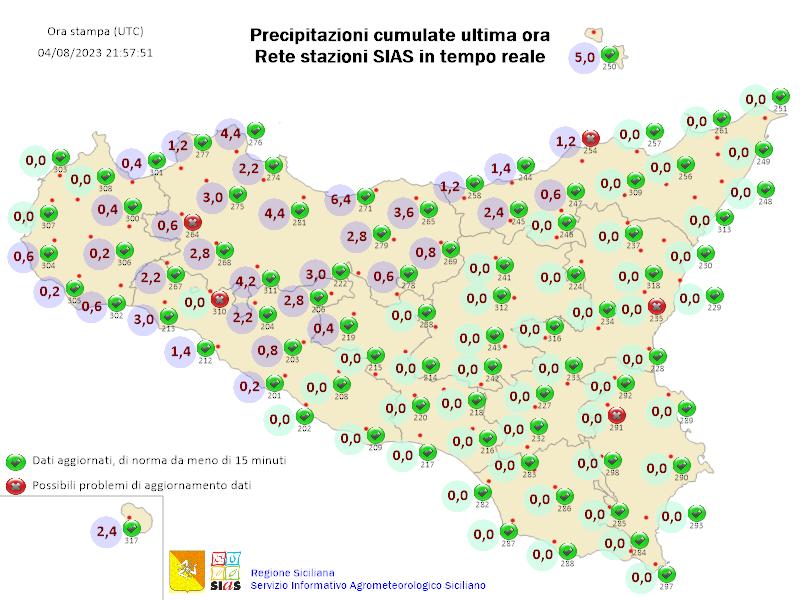 Precipitazioni Cumulate Sias
